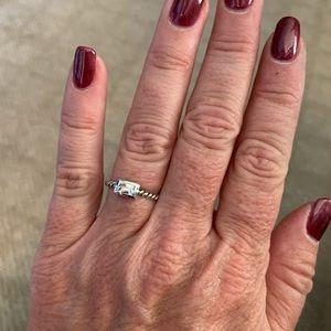 Belle Fleur rectangle ring